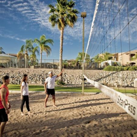volleyball court at ua rental property