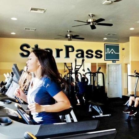 fitness center at star pass apartments in tucson