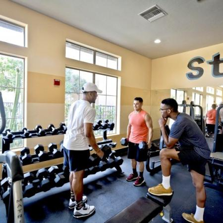 fitness center at ua housing complex