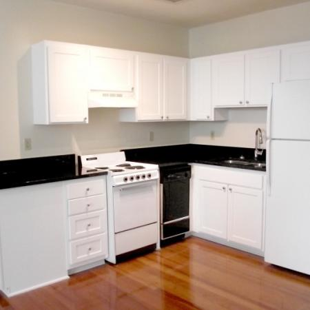 kitchen at downtown vcu apartment