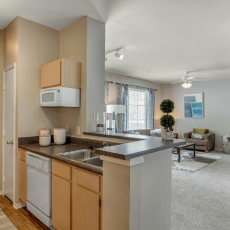 kitchen at brightside apartments
