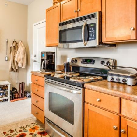 kitchen at seneca apartments