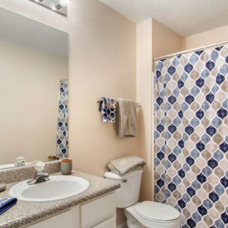 bathroom in athens rental property