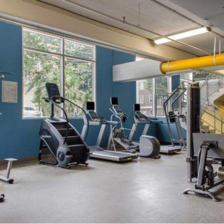fitness center at the luxe fsu apartments tallahassee