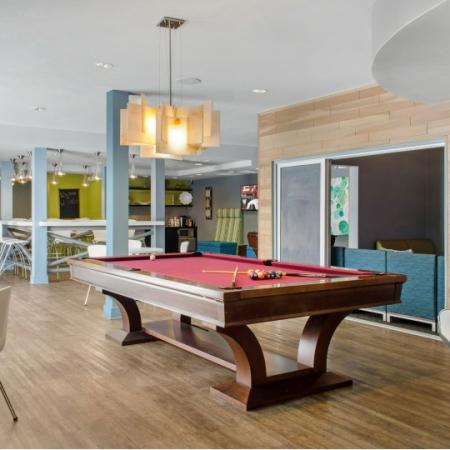 pool table social lounge at the luxe tallahassee