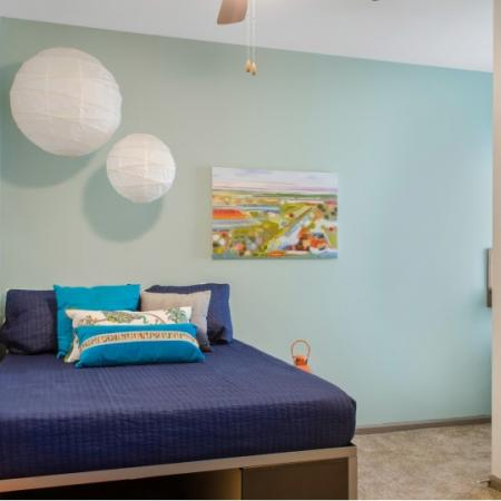 the luxe bedroom at tallahassee fsu apartment