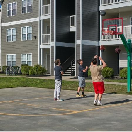 basketball court at apartment complex lafayette