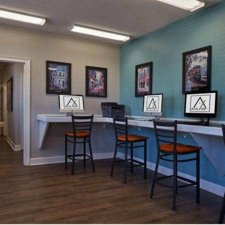 cyber lounge at axis student living lafayette