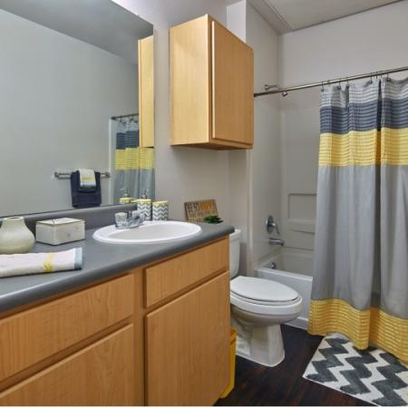 large bathroom in highland apartment