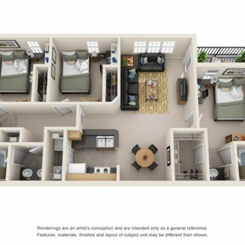 3 bedroom apartment fort collins