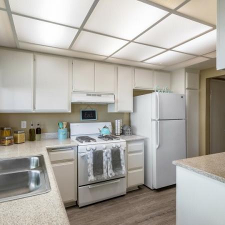 kitchen at riverside ca apartment