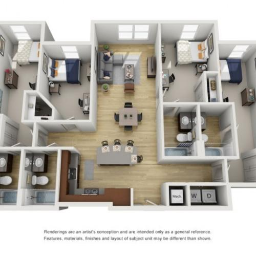 4 bed apartment in tennessee