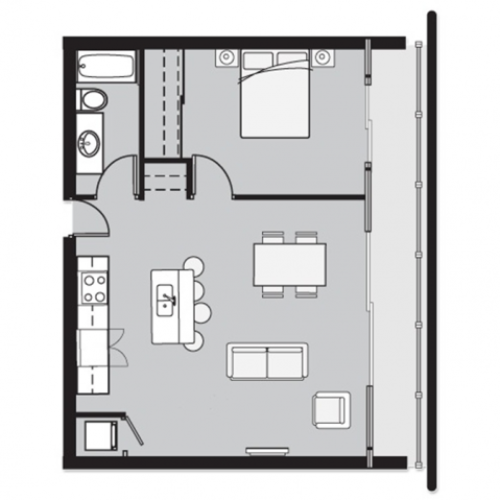1 Bed 1 Bath TH1