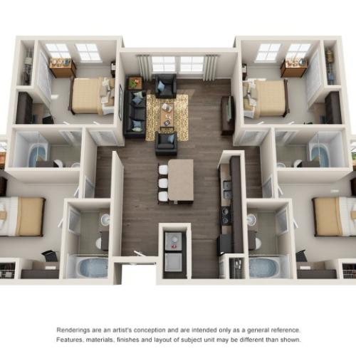 4 bedroom apartments in maryland