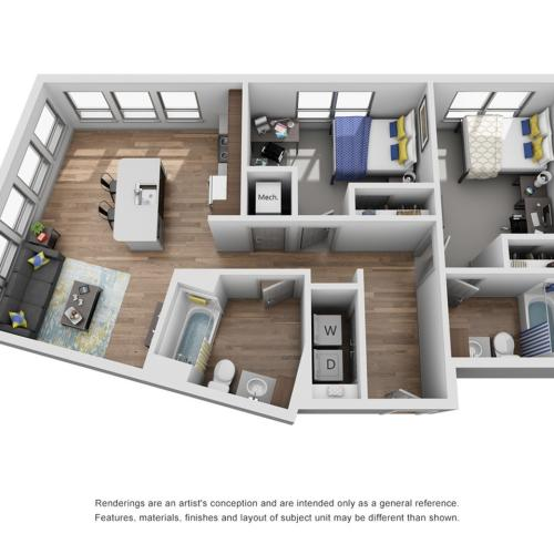 two bedroom apartment in ann arbor