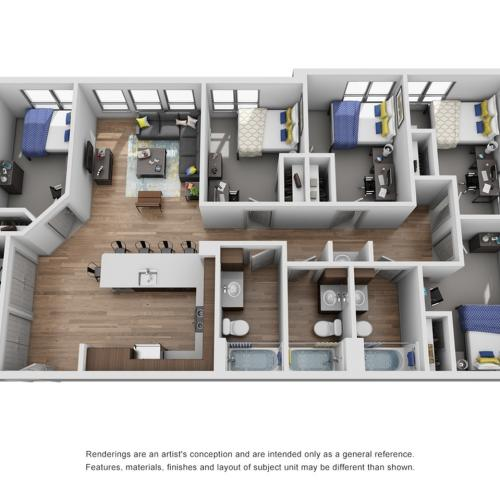 five bathroom apartment in ann arbor