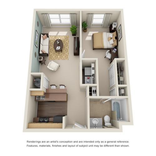 one bedroom apartment in atlanta ga