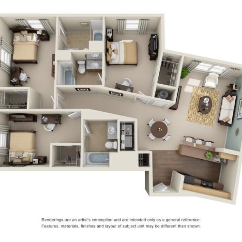3 bedroom apartments atlanta ga