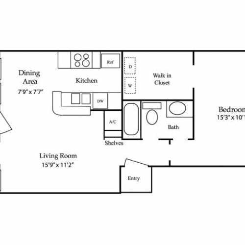 Elm Creek Apartments: 2 Bed / 2 Bath Apartment In Kingwood TX