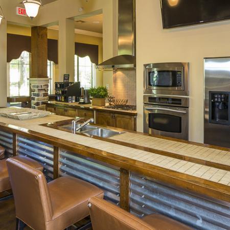 Clubhouse Kitchen   Rock Ridge Apartment Homes Arlington, TX