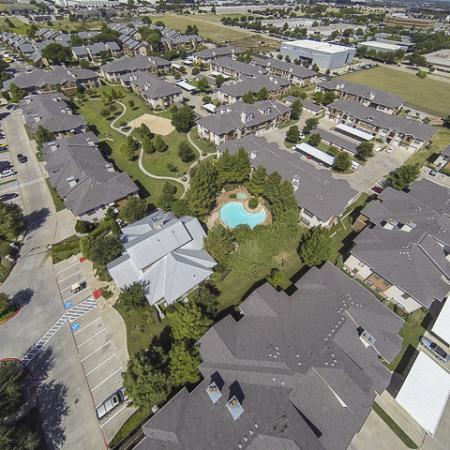 Aerial View   Rock Ridge Apartment Homes Arlington, TX