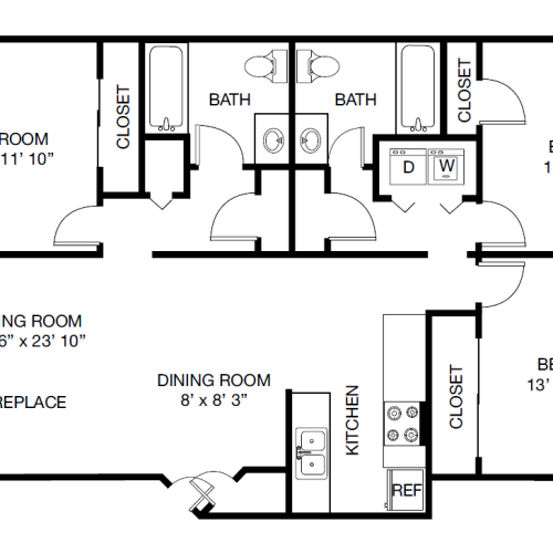 Victoria Park Apartments: 1 Bed / 1 Bath Apartment In Charlotte NC