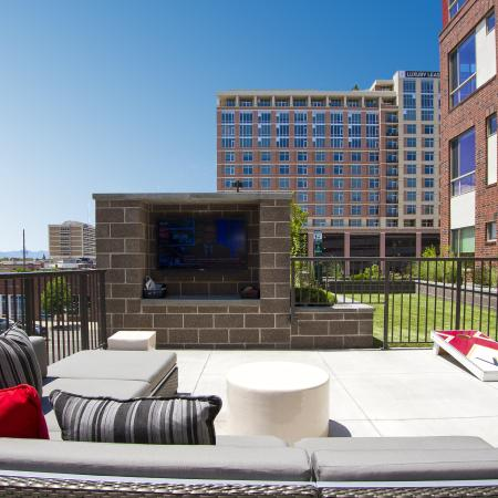 TV and Gaming Area | Via Apartments | Apartments for Rent in Denver, CO