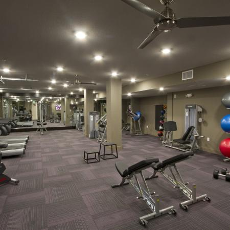 Fitness Studio with Wellness Spa | Via Apartments | Apartments for Rent in Denver, CO