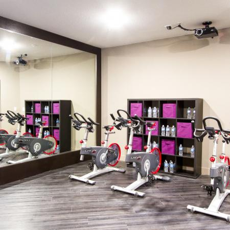 Spin and Yoga Room with On Demand | Via Apartments | Apartments for Rent in Denver, CO