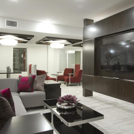 Social Lounge with WiFi Cafe | Via Apartments | Apartments for Rent in Denver, CO