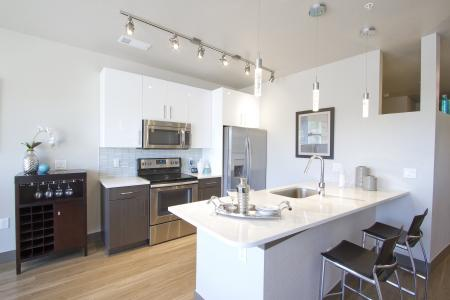 Quartz Countertops| Via Apartments | Apartments for Rent in Denver, CO