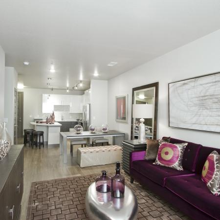 Living Room | Via Apartments | Apartments for Rent in Denver, CO