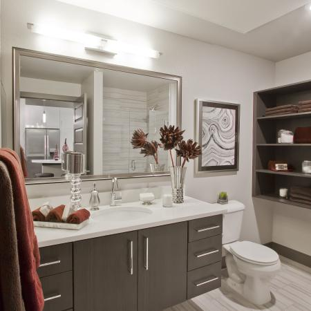 Bathroom | Via Apartments | Apartments for Rent in Denver, CO