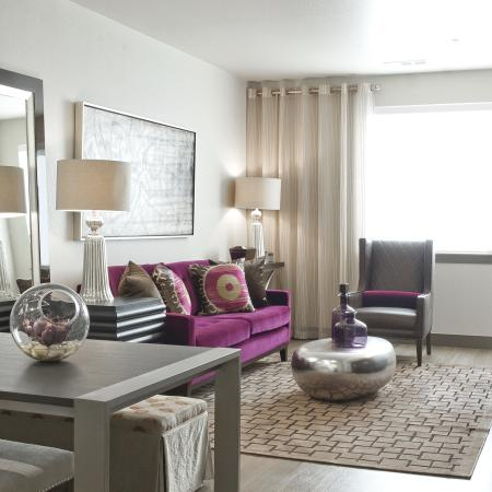 Living Room| Via Apartments | Apartments for Rent in Denver, CO