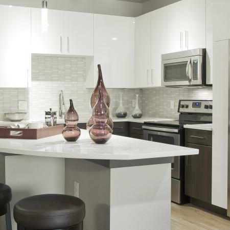 Kitchen | Via Apartments | Apartments for Rent in Denver, CO