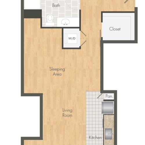 S3 Studio 1 Ba Ballpark Lofts Apartments