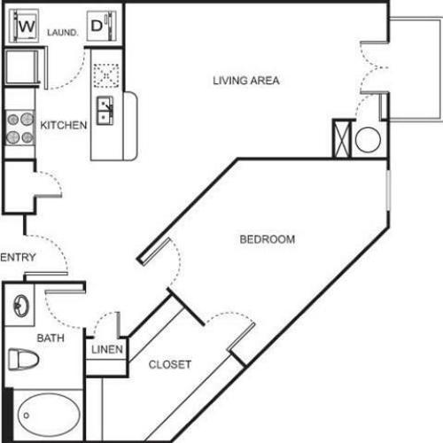 1 Bed / 1 Bath Apartment In Denver CO