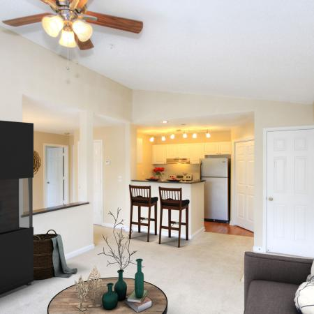 Autumn Woods Apartments Near UNC Chapel Hill With Vaulted Ceilings