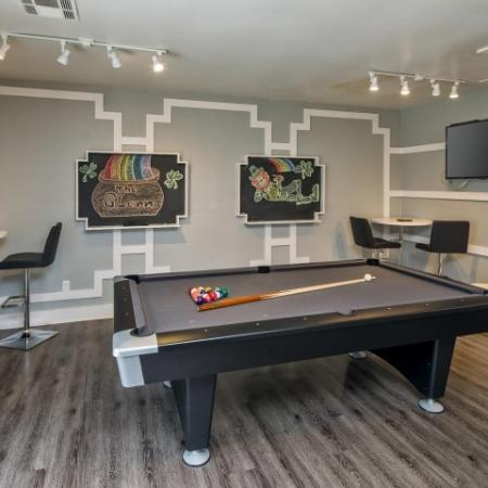 The Glenn-Interior | Game Room with Pool Table