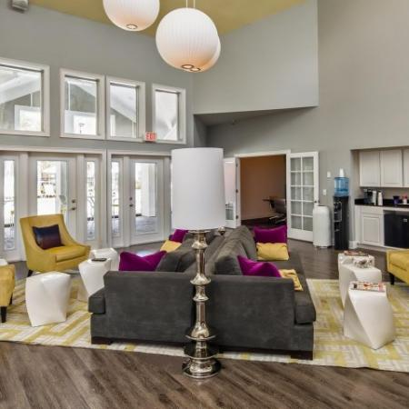 The Glenn-Interior | Clubhouse with couches and chairs