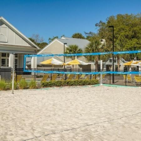 The Glenn-Exterior | Sand Volleyball Court