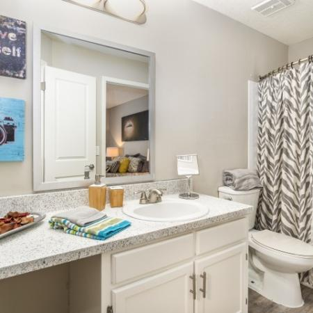 The Glenn-Interior | Bathroom with Tub/Shower and plenty of counter space