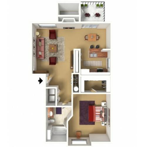 2 Bed / 1 Bath Apartment In Tumwater WA