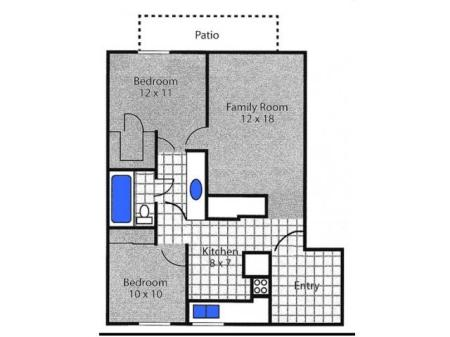 Two Bedroom; 1 Bathroom