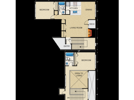 2 Bedroom Loft Style River