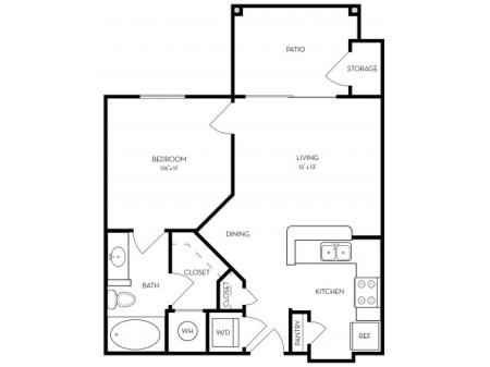 Landing Square E1 - Patio (Renovated Options Available) Floor Plans