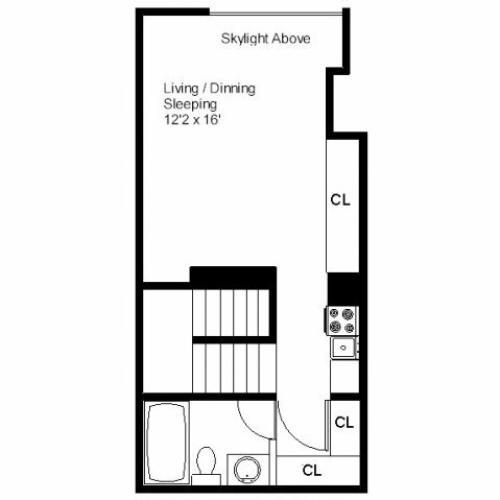 Center Ithaca Studio Apartment