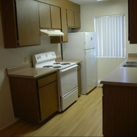 Aspen Leaf Apartments kitchen in Flagstaff, AZ