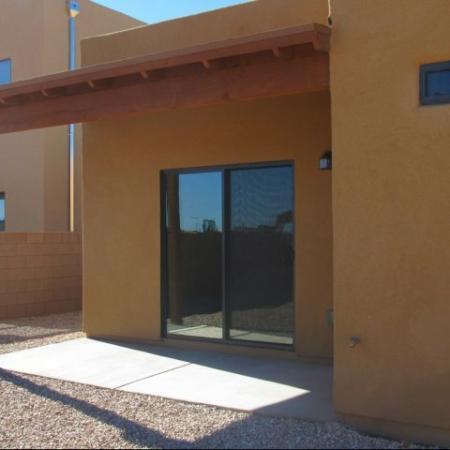 Townhome patio at Coronado Commons Townhomes in Sierra Vista, AZ