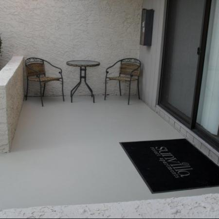 Patio at SunVilla Apartments In Mesa, AZ